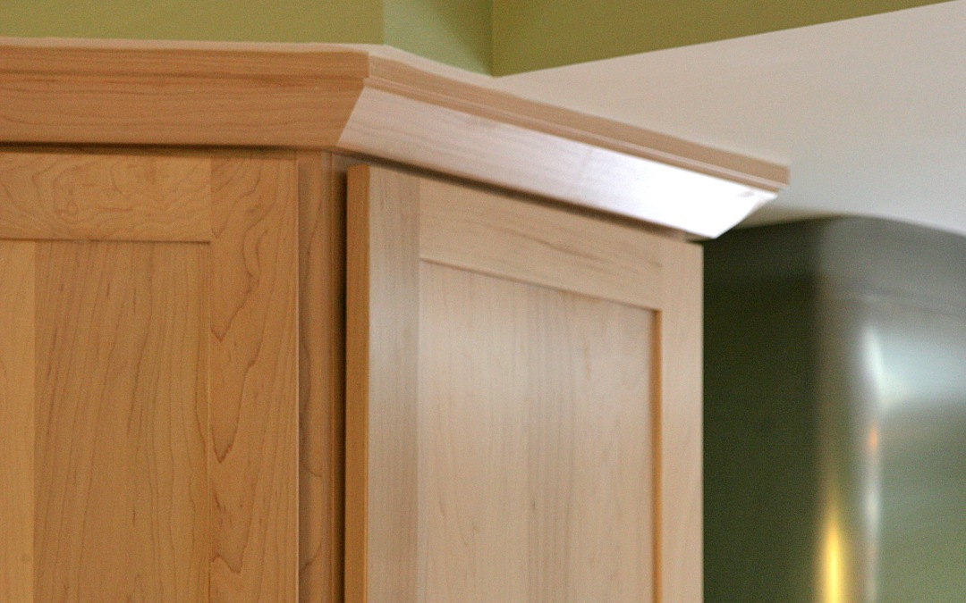 A detail of the cabinets and carefully integrated soffits