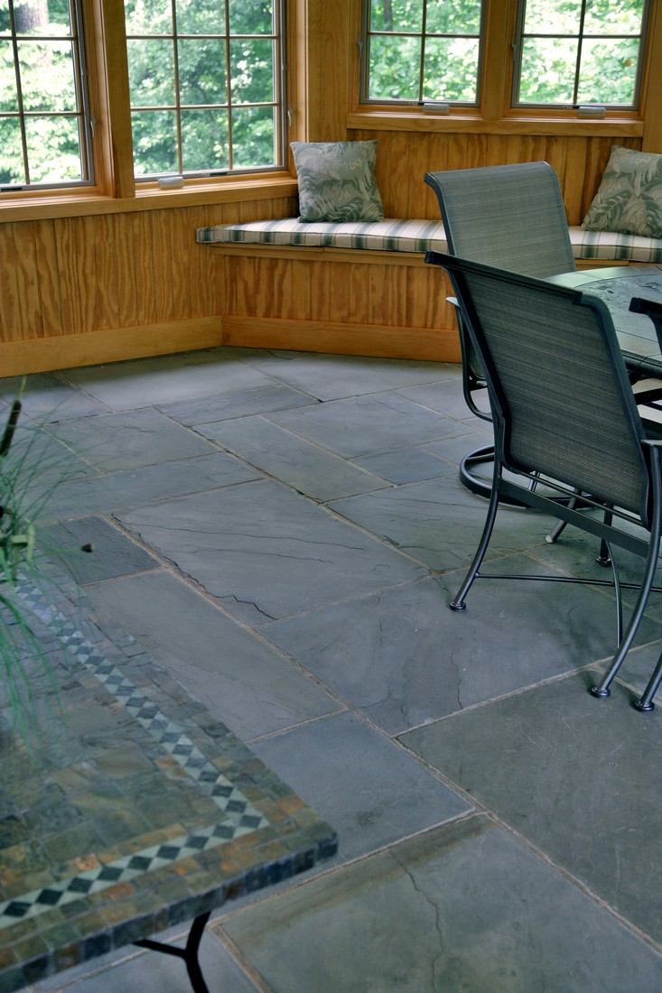 New life was breathed into the original slate floors