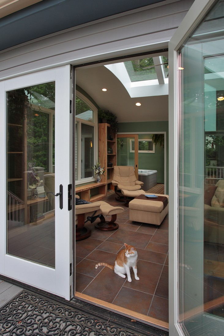 Silver Spring Maryland - Sunroom Addition - Deck - Interior Exterior Remodeling - M (34)
